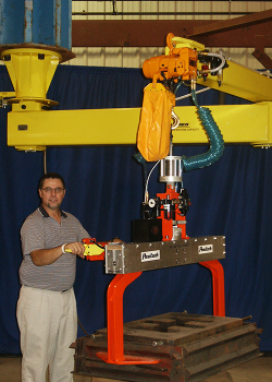 Articulated Jib Arm with optional hoist and end effector - Conco