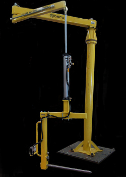 Articulated Jib with optional Airlift and roll handling poke tool - Conco