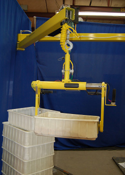 Articulated Jib Lifter with integrated 90 inch lift and 150 pound capacity pneumatic balancer - Conco