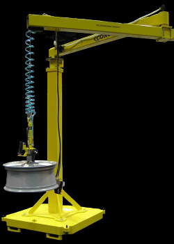 Articulated Jib Lifter Arm with integrated air balancer on a portable base - Conco