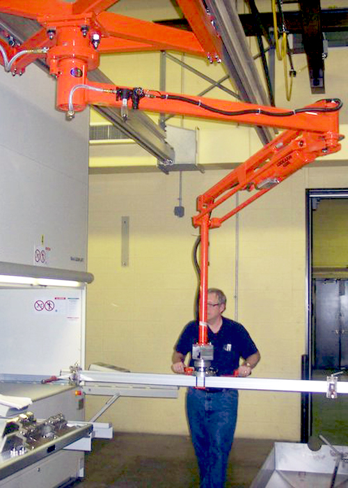 Lift Assist Articulating Arm : Lodearm industrial manipulator for easy part positioning