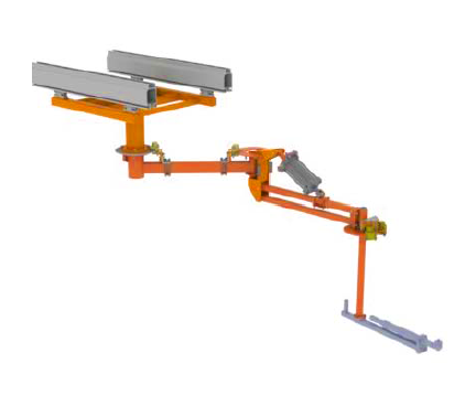 ReactionArm overhead mounted with axis brakes