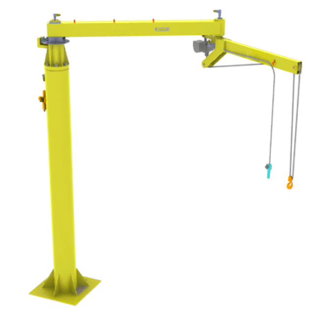 articulated jib hoist with integrated hoist
