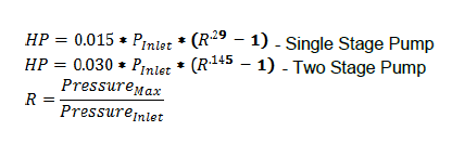 two stage pump equation