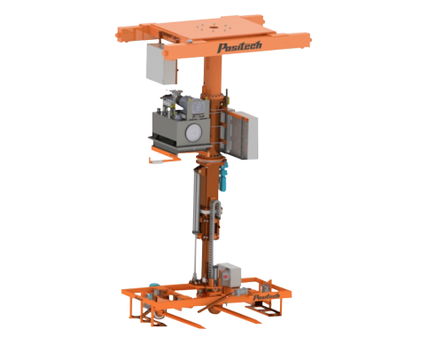 Vertical lifter on a gantry system
