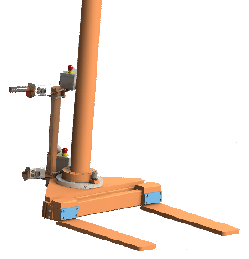 Mechanical gripper for lifting crank shafts.
